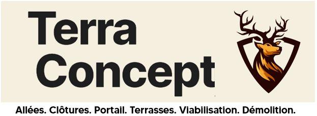 Terraconcept votre terrassier paysagiste spécialiste aménagement extérieurs raccordements viabilisation terrassement allees clotures portail terra concept
